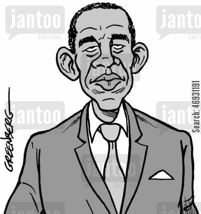 american presidents cartoon humor: Obama