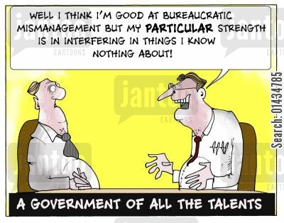 privatisation cartoon humor: A Government of all the talents