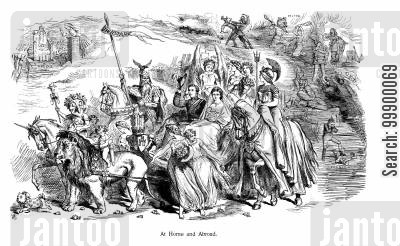 jingoism cartoon humor: Princess Alexandra and Prince Albert's Wedding,1863