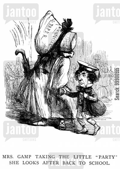 martin chuzzlewit cartoon humor: Morning Herald Takes Disraeli 'Back to School' on Protectionism