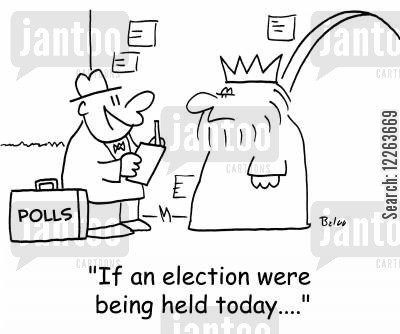 coups cartoon humor: POLLS, 'If an election were being held today....'