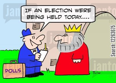 polling cartoon humor: POLLS, 'If an election were being held today....'