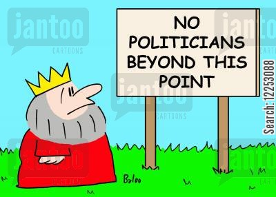 politicans cartoon humor: No politicians beyond this point.