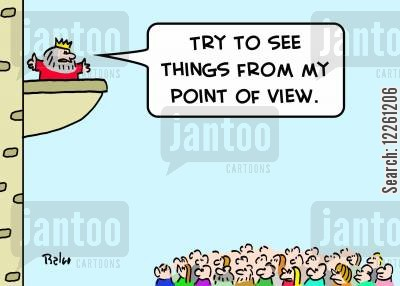 thrones cartoon humor: 'Try to see things from my point of view.'