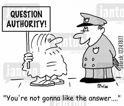 question cartoon humor: 'You're not gonna like the answer....'