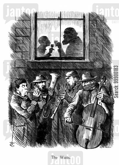 musician cartoon humor: Salisbury's Minority Government,1885-86