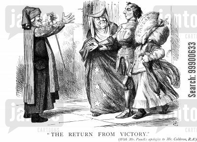 second reform act cartoon humor: Victory for 1867 Reform Bill
