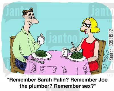 sarah palin cartoon humor: 'Remember Sarah Palin? Remember Joe The Plumber? Remember sex?'