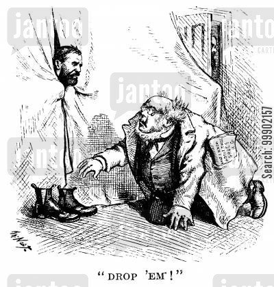 democratic convention cartoon humor: Horace Greeley's Liberal Republicans Attempt to Steal President Grant's Policies