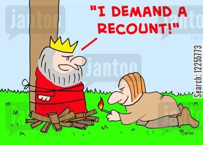revoltution cartoon humor: 'I demand a recount!'