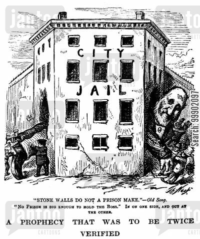 city jail cartoon humor: No Prison is big enough for William Tweed