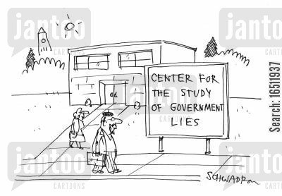 cover-ups cartoon humor: Center for the Study of Government Lies.