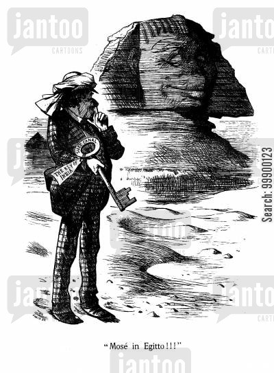 foreign policy cartoon humor: Disraeli's Suez Canal Purchase