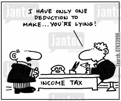 deducting cartoon humor: I have only one deduction to make. . .you're lying!