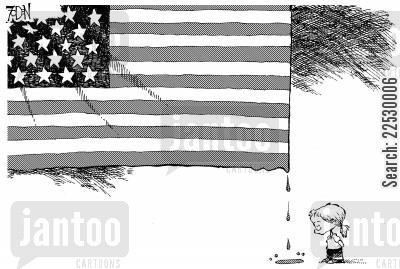 american flag cartoon humor: The American flag