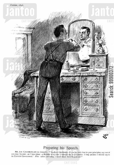 joseph chamberlain cartoon humor: Joseph Chamberlain's Political Transformations