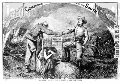confederates cartoon humor: 'Compromise with the South' - Dire Consequences of Adopting the Chicago Convention Platform