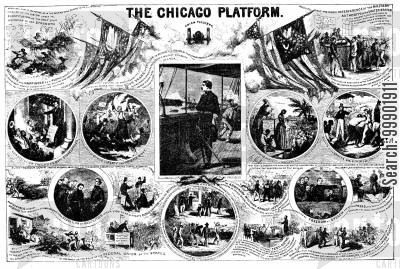 george mcclellan cartoon humor: Harsh Critique on the Chicago Platform