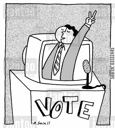 electorates cartoon humor: vote