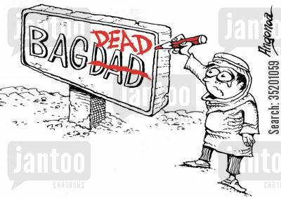 iraq cartoon humor: 'Bad-dead' (War in Iraq)