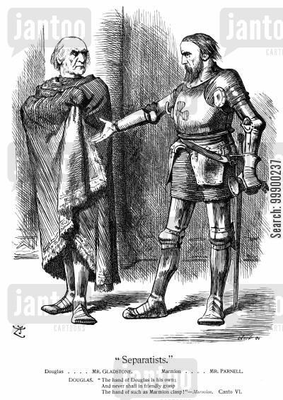 charles stuart parnell cartoon humor: Gladstone and the Fall of Parnell