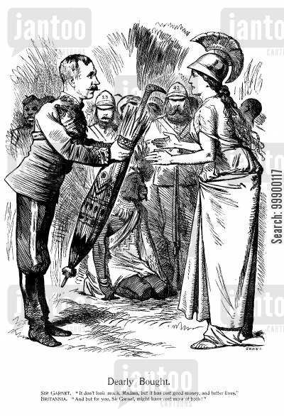 ashanti confederacy cartoon humor: Victory in the Ashanti Wars, 1874