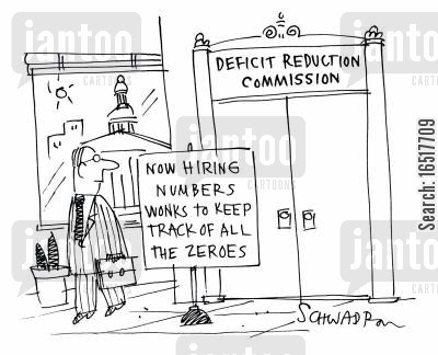 accounted cartoon humor: Now hiring numbers wonks to keep track of all the zeroes.