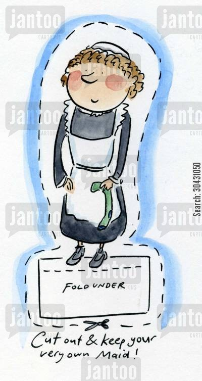 chambermaid cartoon humor: Cut out and keep your own Maid.