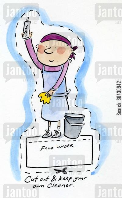 suds cartoon humor: Cut out and keep your own Cleaner.
