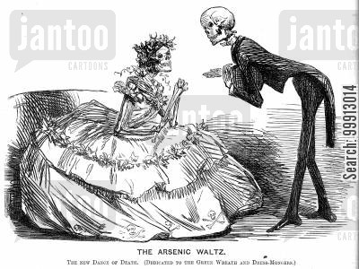 colouring cartoon humor: The Arsenic Waltz