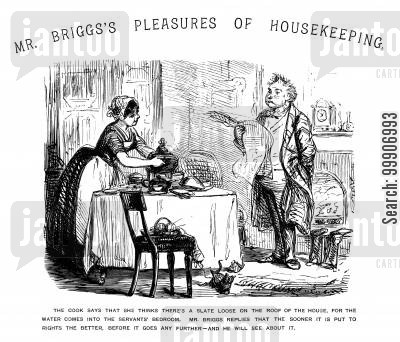 domestic workers cartoon humor: Mr. Briggs' Pleasures of Housekeeping, part 1
