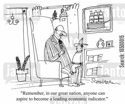 proffession cartoon humor: ...Anyone can aspire to become a leading economic indicator