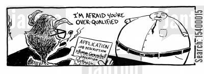 cannonball cartoon humor: Job Application for Human Cannonball - I'm afraid you're over qualified.