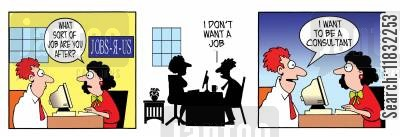 gen y cartoon humor: What sort of job are you after?
