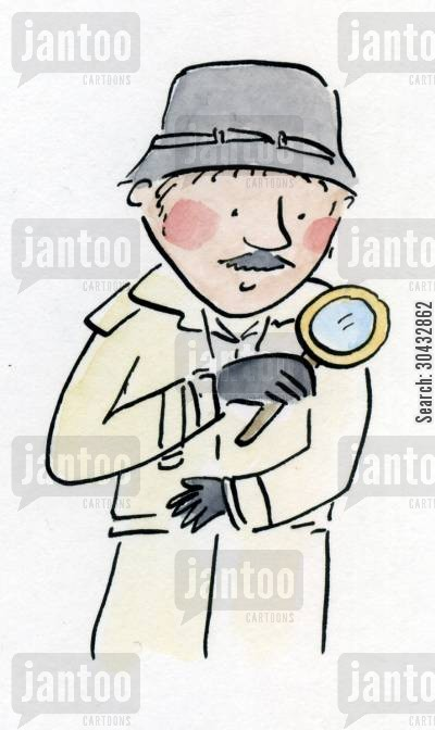 private investigator cartoon humor: Detective.