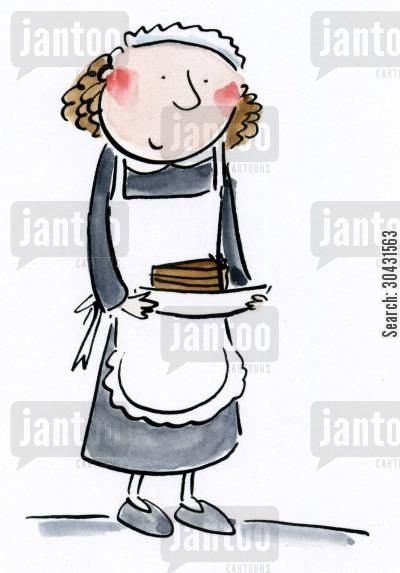 room service cartoon humor: Maid.