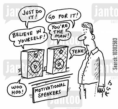 go for it cartoon humor: 'Motivational Speakers'