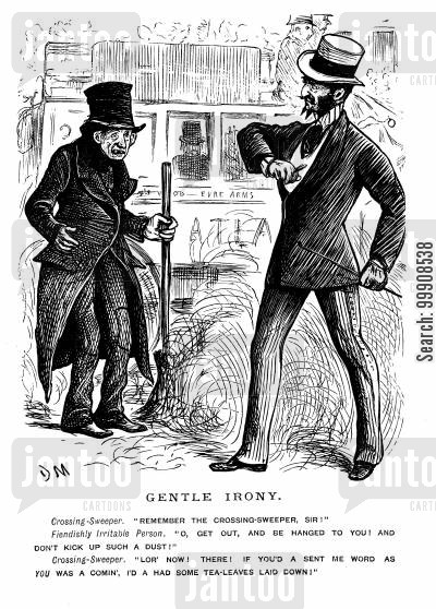 scolding cartoon humor: A Gentleman and a Sweeper