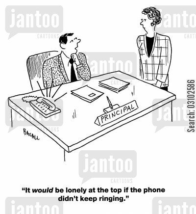 lonely at the top cartoon humor: 'It would be lonely at the top if the phone didn't keep ringing.'
