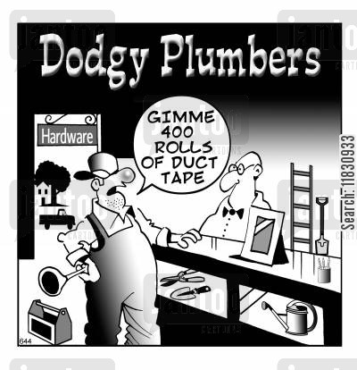 tapes cartoon humor: Gimme 400 rolls of duct tape.