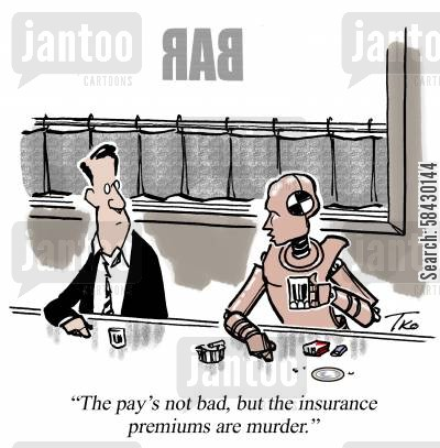 crash test cartoon humor: The Insurance Premiums Are Murder