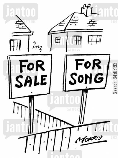 quality cartoon humor: House on Sale for A Song