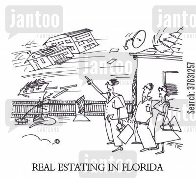 florida cartoon humor: Real Estating In Florida,