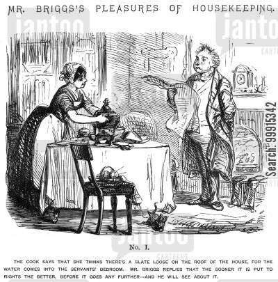domesticity cartoon humor: Mr Briggs's Pleasures of Housekeeping - No. I
