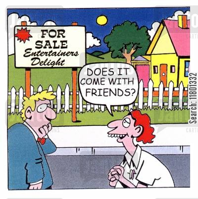 neediness cartoon humor: Does it come with friends?