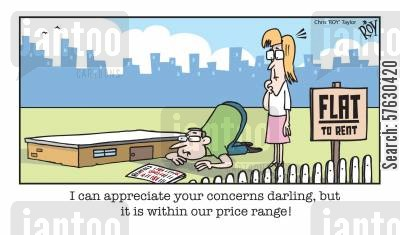 price range cartoon humor: 'I can appreciate your concerns darling, but it is within our price range!'