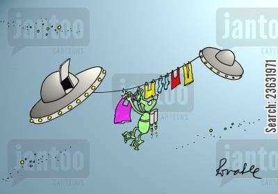 dirty laundry cartoon humor: Space.