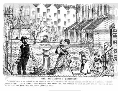 industrialisation cartoon humor: The Victorian Suburb