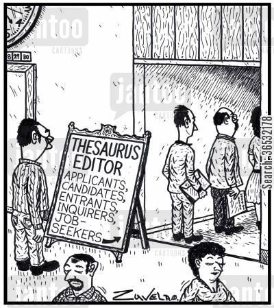 job synonyms thesaurus cartoon synonym cartoons humor antonyms entrants applicant editors applicants seekers inquirers candidates comics jantoo funny dislike recruitment