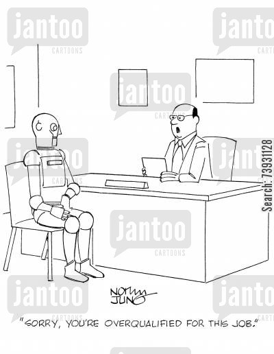 overqualified cartoons - Humor from Jantoo Cartoons
